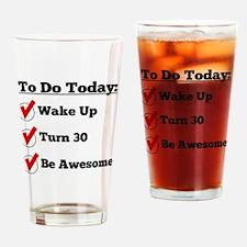 30th Birthday Checklist Drinking Glass