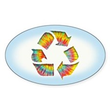 Tie-Dye Recycle Decal