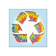"Tie-Dye Recycle Square Sticker 3"" x 3"""