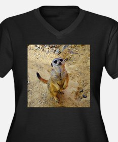 lovely meerkat 515P Plus Size T-Shirt