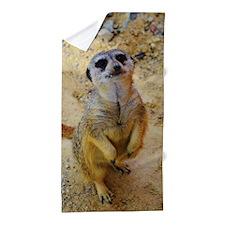 lovely meerkat 515P Beach Towel