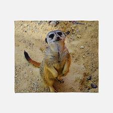 lovely meerkat 515P Throw Blanket
