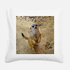 lovely meerkat 515P Square Canvas Pillow