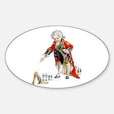 Maud Humphrey - Surrender of Cornwa Sticker (Oval)