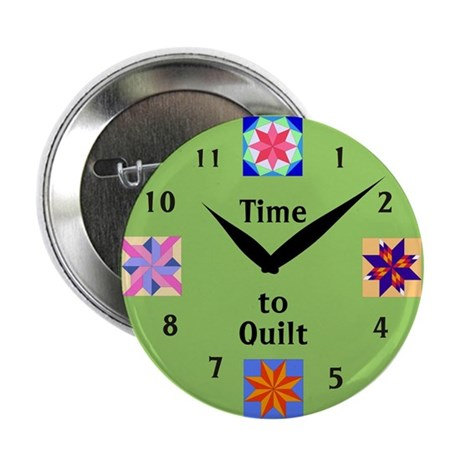 """Time to Quilt 2.25"""" Button (10 pack)"""