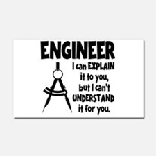 ENGINEER COMPASS Car Magnet 20 x 12
