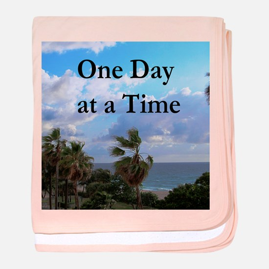 ONE DAY AT A TIME baby blanket