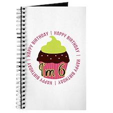 6th Girl Birthday Cupcake Journal