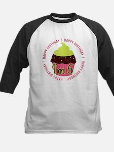 6th Girl Birthday Cupcake Kids Baseball Jersey