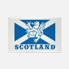 Flag of Scotland with Lion Rectangle Magnet