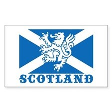 Flag of Scotland with Lion Rectangle Decal