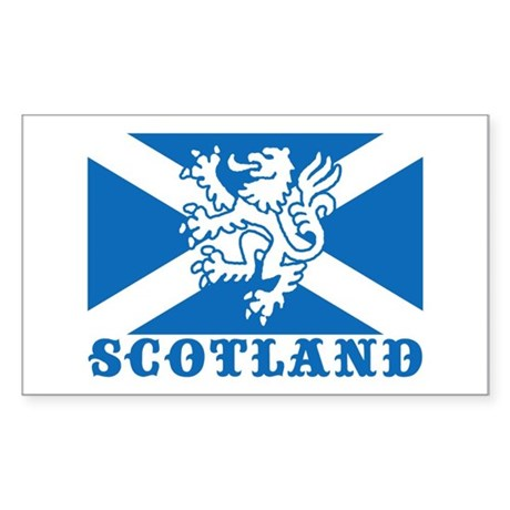Flag of Scotland with Lion Rectangle Sticker