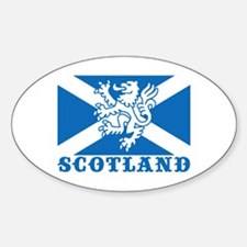Flag of Scotland with Lion Oval Decal