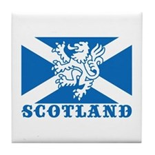 Flag of Scotland with Lion Tile Coaster