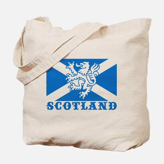 Flag of Scotland with Lion Tote Bag