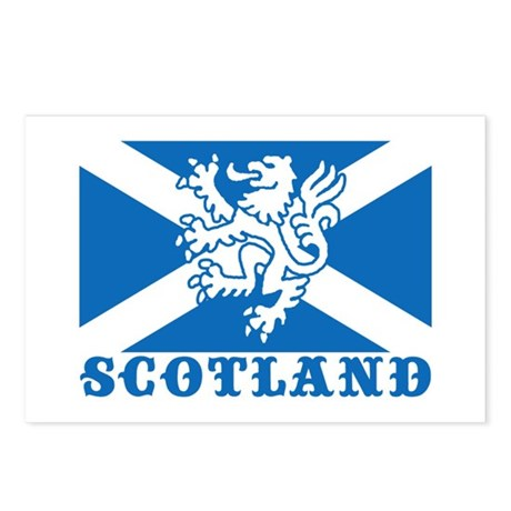 Flag of Scotland with Lion Postcards (Package of 8