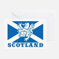 Flag of Scotland with Lion Greeting Cards (Pk of 1