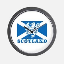 Flag of Scotland with Lion Wall Clock