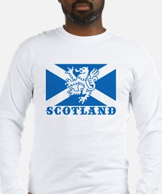 Flag of Scotland with Lion Long Sleeve T-Shirt