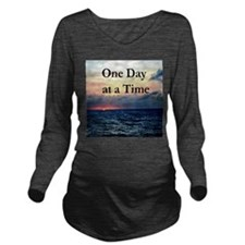 ONE DAY AT A TIME Long Sleeve Maternity T-Shirt