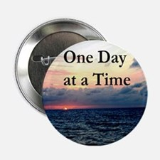 """ONE DAY AT A TIME 2.25"""" Button"""