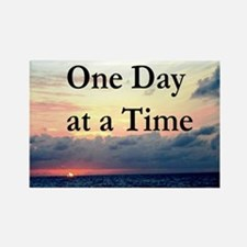 ONE DAY AT A TIME Rectangle Magnet