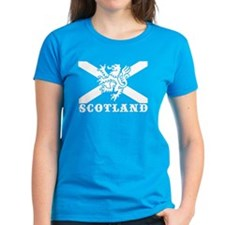 Flag of Scotland with Lion Tee