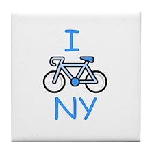 I Bike NY Tile Coaster