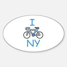 I Bike NY Oval Decal