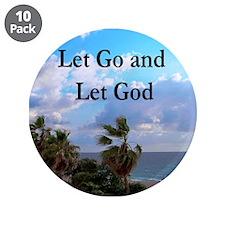 "LET GO AND LET GOD 3.5"" Button (10 pack)"