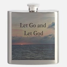 LET GO AND LET GOD Flask