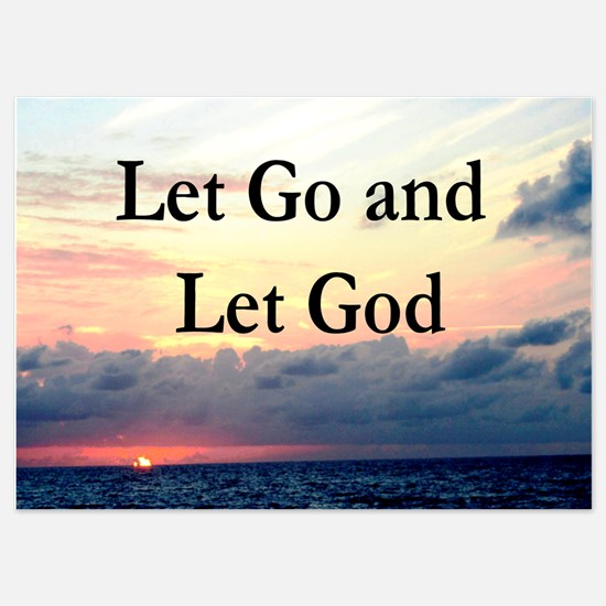 LET GO AND LET GOD Invitations