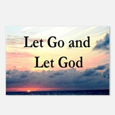 LET GO AND LET GOD Postcards (Package of 8)