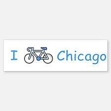 I Bike Chicago Bumper Bumper Bumper Sticker
