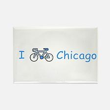 I Bike Chicago Rectangle Magnet