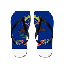North Dakota State Flag Flip Flops