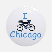 I Bike Chicago Ornament (Round)