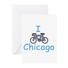 I Bike Chicago Greeting Cards (Pk of 10)