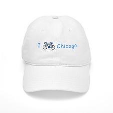 I Bike Chicago Baseball Cap