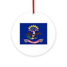 North Dakota State Flag Ornament (Round)