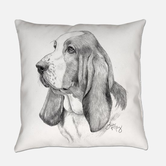 Basset Hound Everyday Pillow