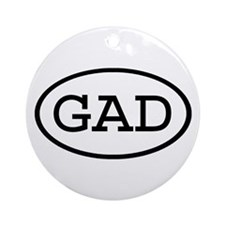 GAD Oval Ornament (Round)