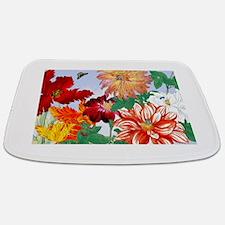 Dazzlin' Tulips, Dahlias, B'flies Bathmat