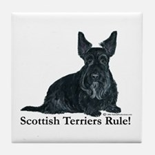 Scottish Terriers Rule! Tile Coaster