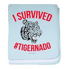 I Survived #Tigernado baby blanket