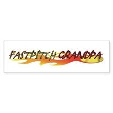 Fastpitch Grandpa Bumper Bumper Sticker