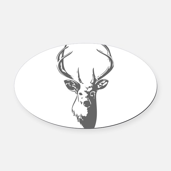 Deer Oval Car Magnet