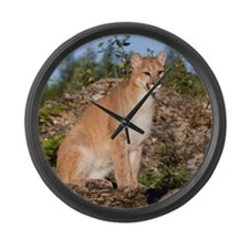 Mountain Lion Large Wall Clock