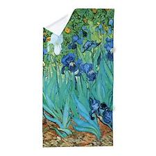 Van Gogh Garden Irises Beach Towel