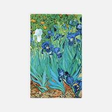 Van Gogh Garden Irises Area Rug
